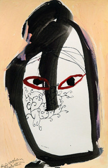 Ala Dehghan I Can Explain Everything - Ala Dehghan, from series: <i>Hands</i>, 2009. Mixed media on paper, 24.5 x 16.5 cm.