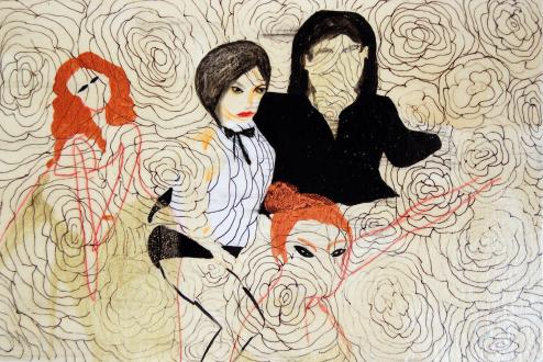 Ala Dehghan – I Can Explain Everything - Ala Dehghan Flower's Day, 2010. Mixed media on paper, 19 x 28 cm.