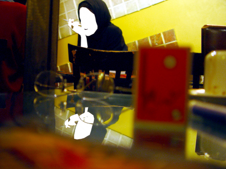 Looped and Layered – Contemporary Art from Tehran - Amirali Ghasemi Coffee Shop Ladies (series of 15 images) 2004. Digital C-print, 11.75 x 15.75 in.