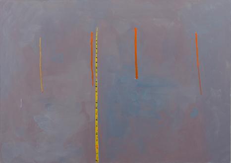 QuietlyLoud – Natasha Conway, Alisha Kerlin, Cassie Raihl - Alisha Kerlin, With some extent (Optimistic), 2010. Oil on canvas, 42 x 59 in.