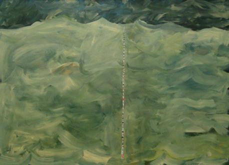 QuietlyLoud – Natasha Conway, Alisha Kerlin, Cassie Raihl - Alisha Kerlin, The Depth, the Length, and the Breath, 2010. Oil on canvas, 50 x 69 in.