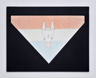 Her Bone - <i>Fire Island Angel</i>, late 1970's. Graphite and colored pencil on paper, 13 1/8 x 8 1/8 in.