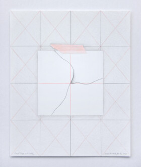 Viewing Room - <i>Pink Tape With Wall</i>, 2021. Colored pencil on paper, 11 x 9 in.