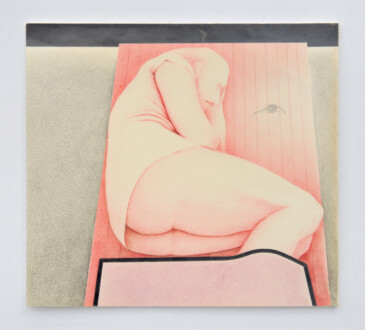 Her Bone - <I>Man From North River II</I> (triptych). Prisma colored pencil and graphite,  10 1/2 x 11 1/2 in.