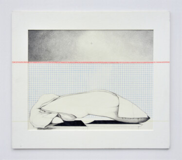 Her Bone - <i>An Annunciation</i>, 1979. Graphite and colored pencil, 16 1/2 x 14 1/2 in.