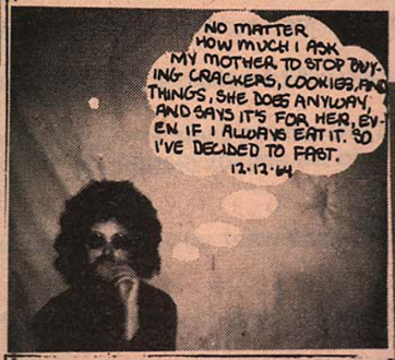 Adrian Piper – The Mythic Being, 1972-1975 - Adrian Piper Village Voice Ad No. 4, Published 1/3/1974. Part of a series of 17 ads published monthly on Gallery Page.