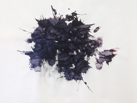 Aiditi Singh – All that is left behind - Aditi Singh, Untitled, 2013, Ink and charcoal on Arches paper, 60 x 86 in.