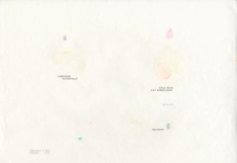 Soft Haze – Xinyi Cheng, Nabuqi, Ali Van - Ali Van, 992/1000* (of lungs –milk –stars), 2015. Type & pigment on gifted sumi-e paper, 12 x 17 in.