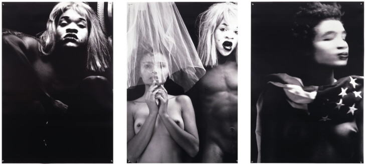 Lyle Ashton Harris – Early Works 1987-88 (The White Face Series) - <i>Americas (Triptych) [