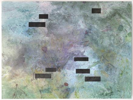 Bahar Behbahani – Garden Coup - Bahar Behbahani, Garden of the Envy of Paradise, 2015-16. Mixed media on canvas, 54 x 72 in.