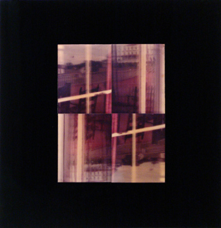 Barry Gerson – The Parting of the Clouds - Porch Window Reflections, 1982. Nimslo 3D photographic construction on Plexiglas, 15.5 x 14 in.