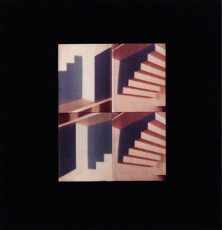 Barry Gerson – The Parting of the Clouds - Blue + White Space Penetration Series #10, 1983. Nimslo 3D photographic construction on Plexiglas, 15 x 14.5 in.