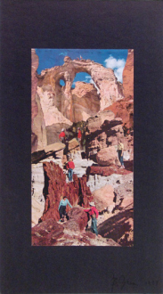 Barry Gerson – The Parting of the Clouds - Western Scene #2, 1976. Magazine print construction, 18.5 x 10.25 in.