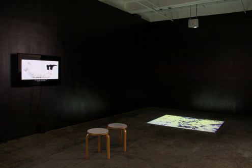 Nothing Is Left to Tell - Installation view: Masturpiece (left) and What Has Befallen Us, Barbad? (right).