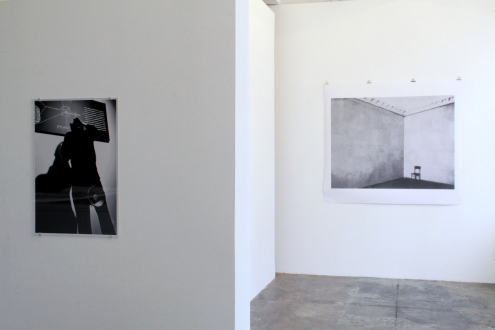 Nothing Is Left to Tell - Installation view: The Distribution of The Sacred System (left) and The First Aplasticist Exhibition (right).