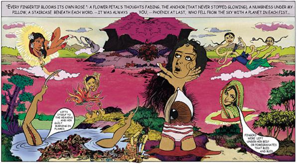 Chitra Ganesh – Upon Her Precipice - Chitra Ganesh, Fingerprints, 2007. C-print, digital collage, 40.5 x 73 in, edition of 5 (+ 1AP).