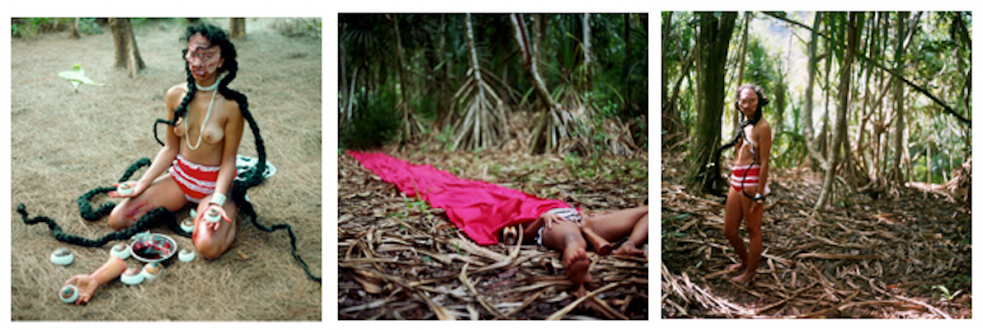 Chitra Ganesh – Upon Her Precipice - Chitra Ganesh, Hidden, 2007. Photographic print, triptych, each 24 x 25 in, edition of 5 (+ 1AP).