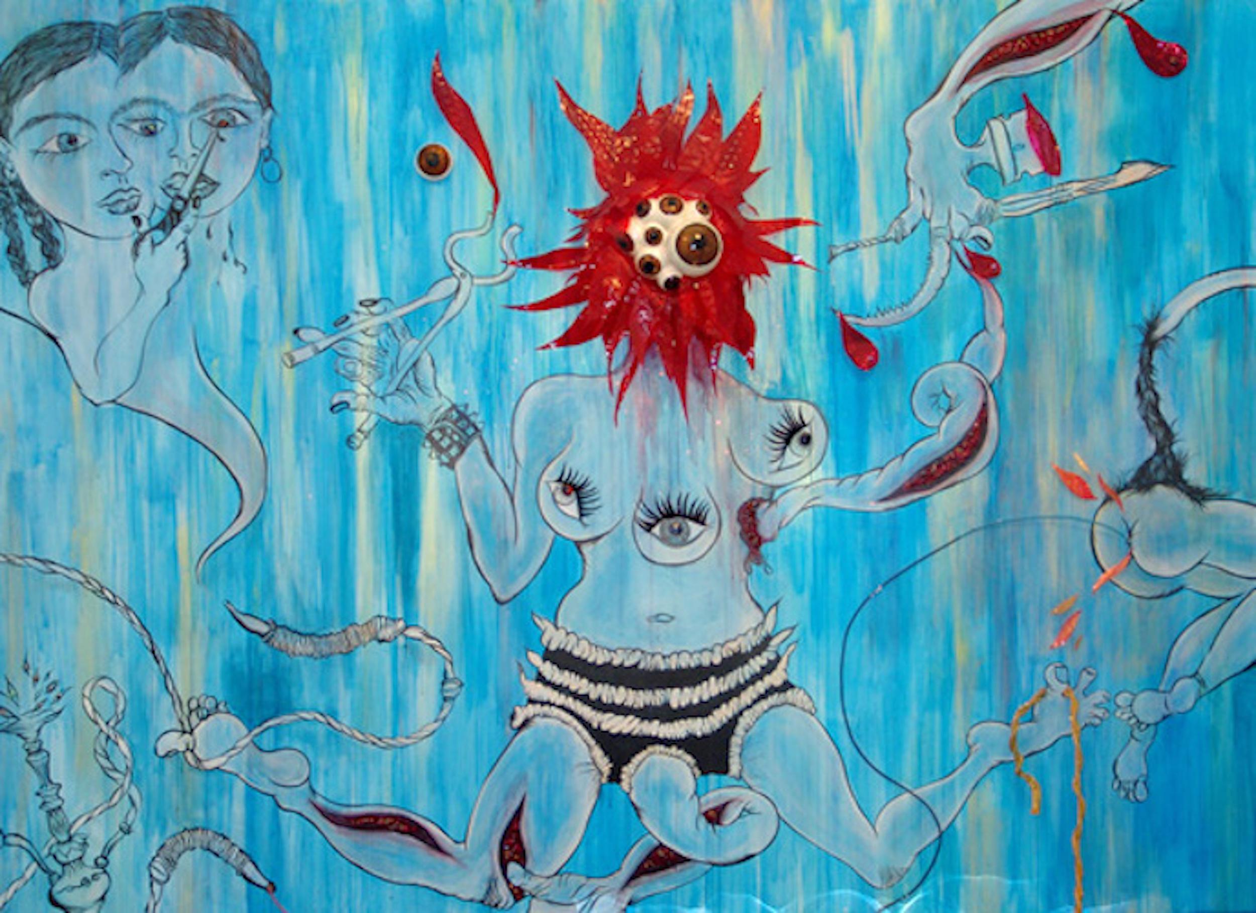 Chitra Ganesh – Upon Her Precipice - Installation view (detail).