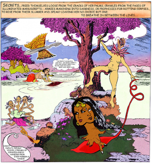 Chitra Ganesh – Upon Her Precipice - Chitra Ganesh, Secrets, 2007. C-print, digital collage, 47.75 x 44.75 in, edition of 5 (+ 1AP).