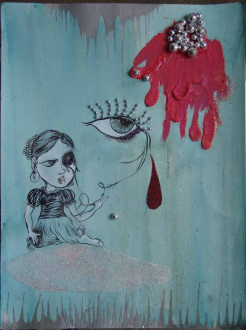 Chitra Ganesh – Upon Her Precipice - <i>Untitled 2</i>, 2007. Mixed media on paper, 16 x 12 in.