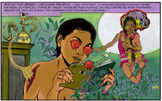 15 Years Thomas Erben - Chitra Ganesh, Sugar and Milk, 2008. Digital C-print, ed. of 5 (+1 AP), 25.5 x 41.5 in.