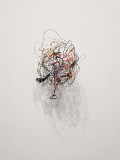 ecofeminism(s) curated by Monika Fabijanska - Cecilia Vicuña (Chilean, b. 1948) Bola de cable (Precarios), 2014 mixed media, 5.75 x 6 x 4.675 in (14.6 x 15.2 x 11.9 cm) Courtesy the artist and Lehmann Maupin, New York, Hong Kong, and Seoul