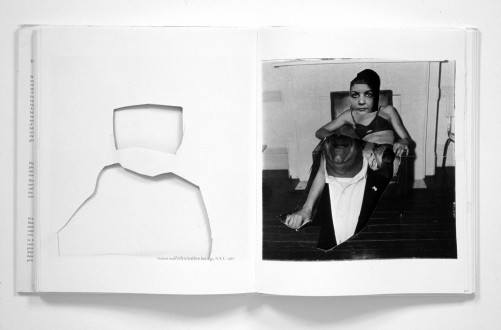 Mike Cloud - <i>Diane Arbus Hardcover</i>, 2004, positive and negative collages with hardcover book, Dimensions variable