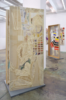 Box Paintings - Installation view, <i>Stretchers Strung Out On Space</i>, 2021, Thomas Erben Gallery