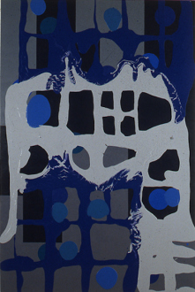 Dona Nelson – in situ: paintings 1973 – present - Fleshy Reflection, 1997. Latex enamel on canvas, 90 x 60 in.
