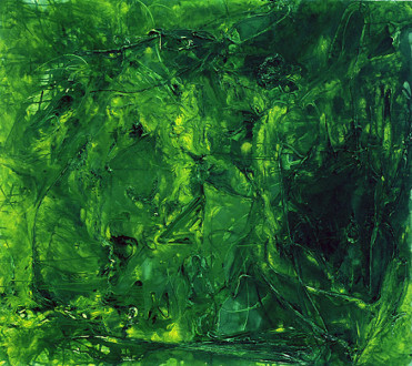 Brain Stain -  <i>Mitchell Street</i>, 2003. Acrylic on canvas, 70 x 78 in.