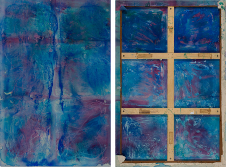 Dona Nelson – in situ: paintings 1973 – present - April, 2008 (front and back). Acrylic on canvas, 90 x 60 in.