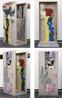 Box Paintings - <i>By The Yard</i>, 2016. Collage, dyed cheesecloth, muslin, acrylic mediums on linen panel mounted on plywood base Panel: 81 ½ × 36 in.
