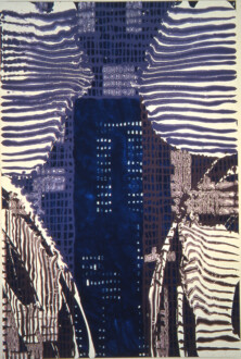 Stations of the Subway - <i>High Lounge</i>, 1998. Acrylic and latex enamel on canvas 90 × 60 in.