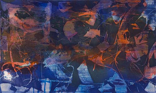 Volta New York - <i>Lumen</i>, 2009. Acrylic and acrylic medium on canvas, 48 × 80 inches.