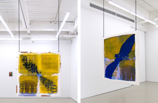 Dona Nelson – Double sided paintings - <i>Lunar Eclipse</i>, 2010. Acrylic on canvas, 48 × 48 in.