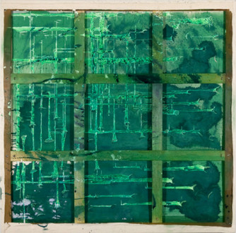 Volta New York - <i>OK (a perfect spring day)</i>, 2009 Acrylic media and cloth on canvas (two sided), 79 × 79 inches.