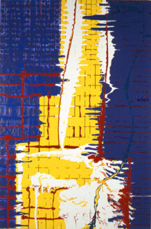 Stations of the Subway - <i>Street of Walls</i>, 1998. Acrylic and latex enamel on canvas 90 × 60 in.