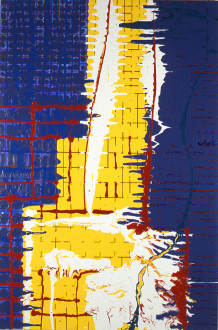 Dona Nelson - <i>Street of Walls (the Stations of the Subway series)</i>, 1998. Acrylic and latex enamel on canvas