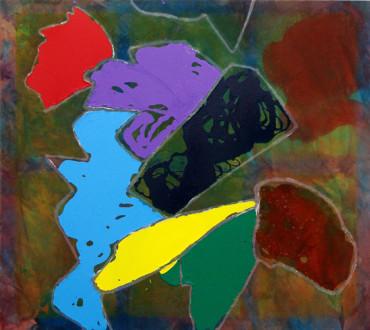 Phigor - <i>Top</i>, 2014. Acrylic and acrylic medium on canvas, 70 x 79 in.