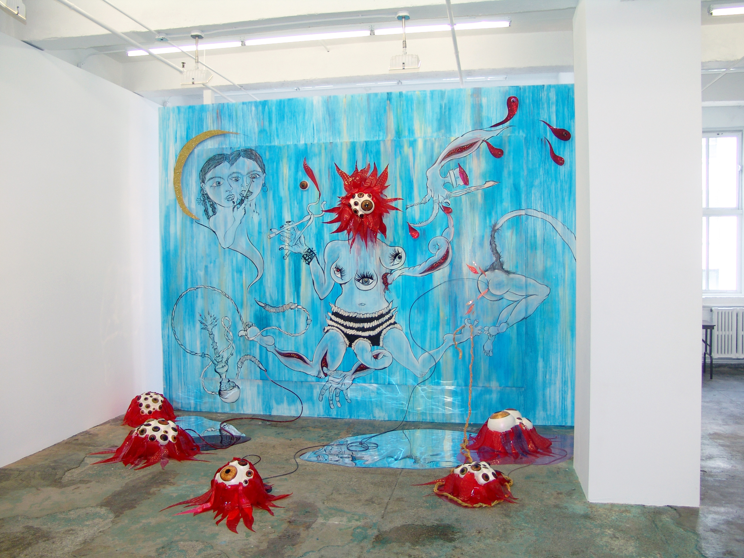 Chitra Ganesh – Upon Her Precipice - Installation view.