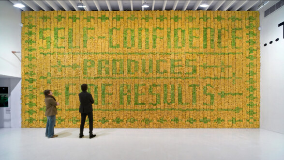 Things I Have Learned In My Life So Far, Deitch Projects - Installation view, <I>Banana wall</i> (I).