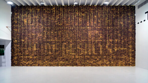 Things I Have Learned In My Life So Far, Deitch Projects - Installation view, <I>Banana wall</i> (IV).