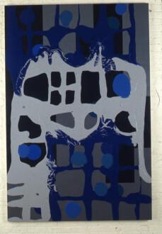 Stations of the Subway - <i>Fleshy Reflection</i>, 1997. Latex Enamel on Canvas 90 × 60 in.