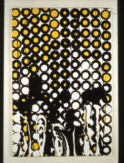 Stations of the Subway - <i>Wheels</i>, 1997. Latex Enamel on Canvas, 90 × 60 in.