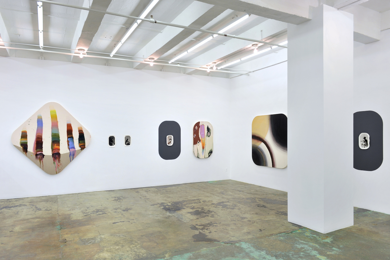 Installation view: east and south walls