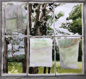 Spirited Densities – Ryan McLaughlin, Zach Nader, Ferdinand Penker, Emma Webster - Emma Webster, Untitled, 2017. Work on paper, 10 x 11 in.