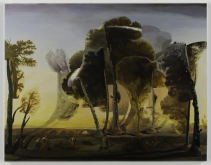 Spirited Densities – Ryan McLaughlin, Zach Nader, Ferdinand Penker, Emma Webster - Emma Webster, Rural Dance, 2018. Oil on canvas, 84 x 108 in.