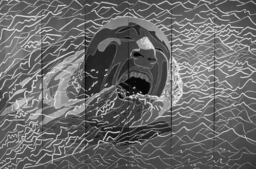 Fang Lijun – Woodcuts - 1992.2.1, 1992. Woodcut, edition of 8, 16 x 24 ft.