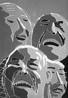 Fang Lijun – Woodcuts - 2000.5.20, 2000. Woodcut, edition of 65, 48 x 32 in.
