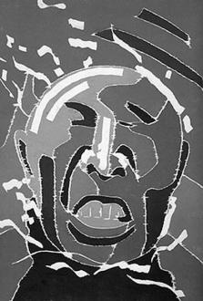 Fang Lijun – Woodcuts - 2000.6.15, 2000. Woodcut, edition of 65, 48 x 32 in.
